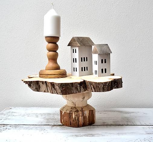 Pomôcky - Drevený stojan - natur - 13424496_