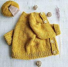 Detské oblečenie - Svetrík Oliver - merino, alpaka, hodváb - 13425724_