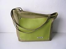 Veľké tašky - schopper olivová - 13424042_