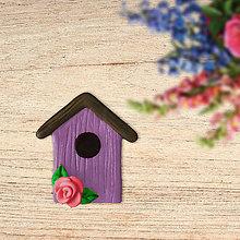 Magnetky - Búdka pre vtáčika - magnetka - 13424311_