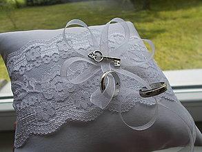 Prstene - svadobný vankúšik na obrúčky VII. - 13429243_