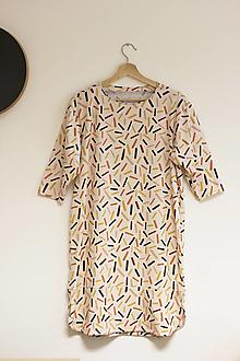 Šaty - upletové šaty - organická bavlna - 13428657_