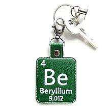 Kľúčenky - Kľúčenka prvok Be-mám smaragd v očiach - 13429864_