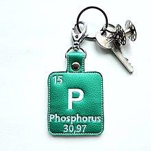 Kľúčenky - Kľúčenka prvok P-som svetlom v tme - 13429884_