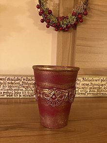 Nádoby - Hlinený kochlík z bordúrou - 13429559_