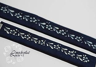 Sady šperkov - Set modrotlač náhrdelník + náramok - 13429702_