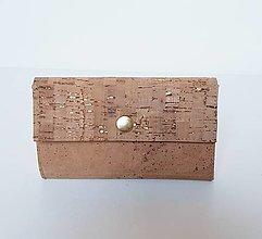 Peňaženky - Dámska korková peňaženka - 13429576_