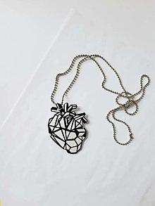 Náhrdelníky - Anatomické srdce. - 13428299_