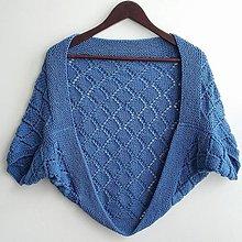 Svetre/Pulóvre - Dámske pletené bolerko, svetrík, 100% merino - 13427602_