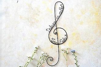 Detské doplnky - husľový kľúč II - 13427730_