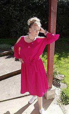 Šaty - Cyklámenové šaty - 13427754_