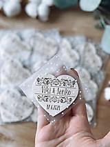 Darčeky pre svadobčanov - Samostatné ZABALENIE magnetky - 13430896_