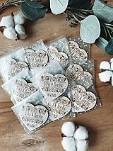 Darčeky pre svadobčanov - Samostatné ZABALENIE magnetky - 13430898_