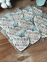 Darčeky pre svadobčanov - Samostatné ZABALENIE magnetky - 13430899_