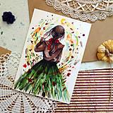 Kresby - Zemitá/ reprodukcia ilustrácie - 13431424_