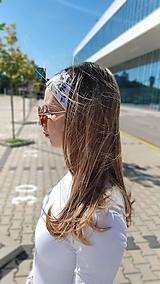 Ozdoby do vlasov - Látková čelenka Michelle - 13432611_