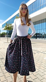 Sukne - Kruhová sukňa Rebecca s vreckami - 13432779_