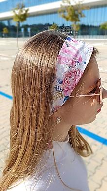 Ozdoby do vlasov - Látková čelenka Isabela/Nathalie - 13431841_