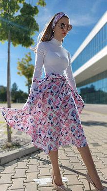 Sukne - Kruhová sukňa Nathalie s vreckami - 13432063_