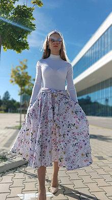 Sukne - Kruhová sukňa Olivia s vreckami - 13432311_