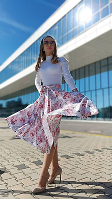 Sukne - Kruhová sukňa Michelle s vreckami - 13432574_
