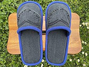 Ponožky, pančuchy, obuv - Tmavošedé papuče s vreckom - 13430892_