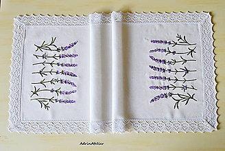 Úžitkový textil - obrus levandula - 13431683_