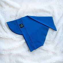 Detské čiapky - Letná šatka so šiltom modrá - 13431222_