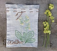 """Úžitkový textil - ľanové vrecko na bylinky """"Kaška"""" - 13430185_"""