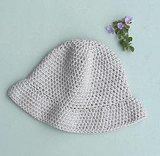 Detské čiapky - Klobúčik...šedý - 13431787_