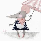 Hračky - Maxi myška Lili v bodkovanom - 13432759_