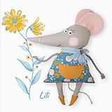 Hračky - Maxi myška Lili - 13432767_