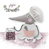 Hračky - Maxi myška Lili kuchárka - 13432845_