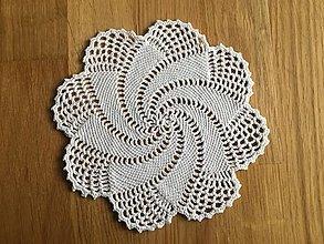 Úžitkový textil - Biela dečka - 13432732_