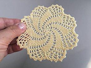 Úžitkový textil - Žltá dečka - 13432739_