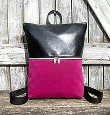 "Batohy - ""new backpack 3in1- black&cyclamen"" - Batoh & taška cez rameno - 13432805_"