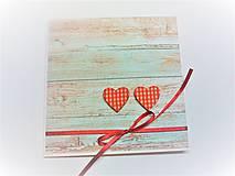 Papiernictvo - Pohľadnica ... dve srdcia - 13435717_
