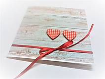 Papiernictvo - Pohľadnica ... dve srdcia - 13435718_