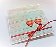 Papiernictvo - Pohľadnica ... dve srdcia - 13435719_