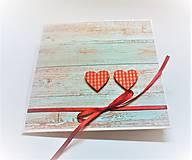 Papiernictvo - Pohľadnica ... dve srdcia - 13435722_