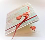 Papiernictvo - Pohľadnica ... dve srdcia - 13435724_