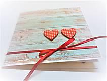 Papiernictvo - Pohľadnica ... dve srdcia - 13435725_