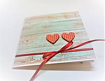 Papiernictvo - Pohľadnica ... dve srdcia - 13435726_