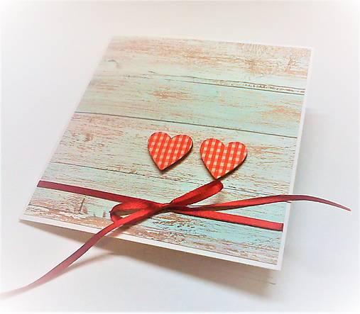 Pohľadnica ... dve srdcia