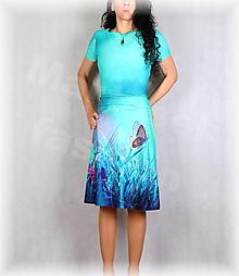 Šaty - Šaty s řasením v pase vz.663 - 13433420_