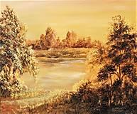 Obrazy - Večerná pieseň Zlatej rieky - 13433993_