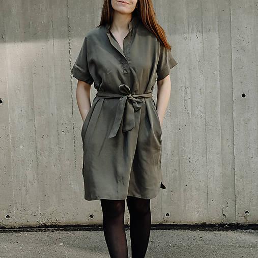 Šaty - Šaty Khaki Shirts - 13433954_