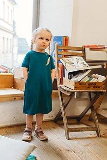 Šaty - Detské Šaty Petrol - 13434000_
