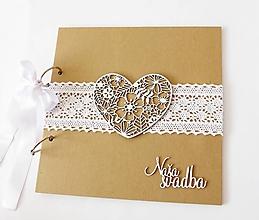 Papiernictvo - svadobná kniha hostí - 13433246_