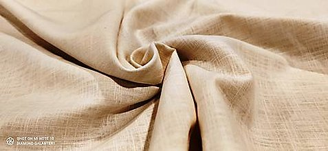 Textil - Ľan  (Béžová) - 13433373_
